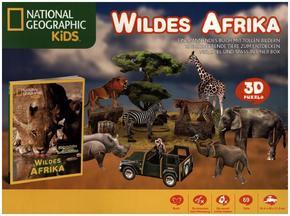 Wildes Afrika- National Geographic Kids (3D Puzzle Box mit Buch)
