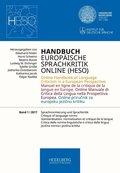 Handbuch Europäische Sprachkritik Online (HESO): Handbuch Europäische Sprachkritik Online (HESO) / Sprachnormierung und Sprachkritik