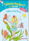 Glitzerzauber-Malblock Elfen und Feen