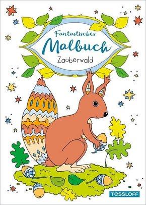 Fantastisches Malbuch Zauberwald