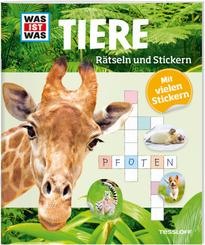 Tiere - Was ist Was, Rätseln und Stickern