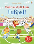 Malen und Stickern: Fußball