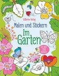 Malen und Stickern: Im Garten