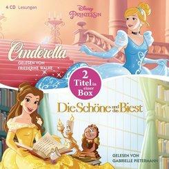 Disney Prinzessin: Die Schöne und das Biest - Cinderella, 4 Audio-CDs