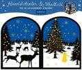 Teelichthäuschen Winternacht, Adventskalender & Windlicht