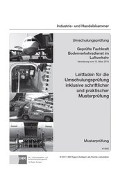 Umschulungsprüfung Geprüfte Fachkraft Bodenverkehrsdienst im Luftverkehr
