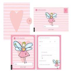 12 Einladungskarten Geburtstag Mädchen (Feen)
