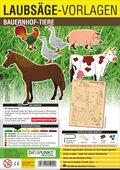 Laubsäge-Vorlagen Bauernhof-Tiere