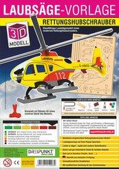 3D Laubsäge-Vorlage Rettungshubschrauber