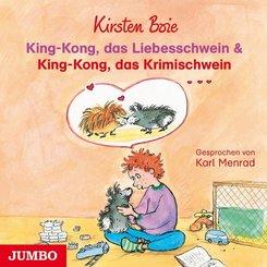 King-Kong, das Liebesschwein & King-Kong, das Krimischwein, 1 Audio-CD
