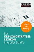 Das Kreuzworträtsel-Lexikon in großer Schrift