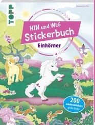 Das Hin-und-weg-Stickerbuch - Einhörner