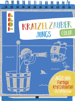 Kratzelzauber Color Jungs, m. Holzstift