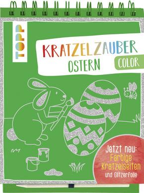 Kratzelzauber Color Ostern, m. Holzstift