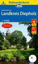 Radwanderkarte BVA Radwandern im Landkreis Diepholz 1:50.000, reiß- und wetterfest, GPS-Tracks Download
