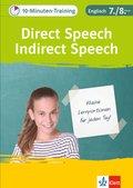 10-Minuten-Training Englisch Direct Speech - Indirect Speech 7./8. Klasse