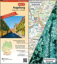 Topographische Karte und Satellitenbildkarte Augsburg