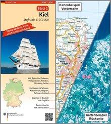 Topographische Karte und Satellitenbildkarte Kiel