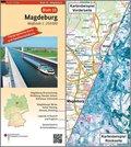 Topographische Karte und Satellitenbildkarte Magdeburg