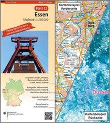 Topographische Karte und Satellitenbildkarte Essen