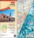 Topographische Karte und Satellitenbildkarte Leipzig
