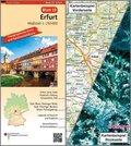 Topographische Karte und Satellitenbildkarte Erfurt