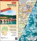 Topographische Karte und Satellitenbildkarte Heidelberg