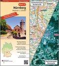 Topographische Karte und Satellitenbildkarte Nürnberg