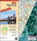 Topographische Karte und Satellitenbildkarte Regensburg