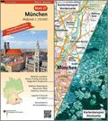 Topographische Karte und Satellitenbildkarte München