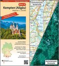 Topographische Karte und Satellitenbildkarte Kempten (Allgäu)