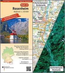 Topographische Karte und Satellitenbildkarte Rosenheim