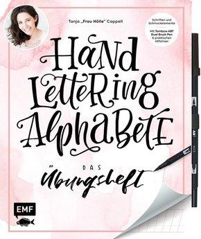 Handlettering Alphabete - Das Übungsheft, mit Stift (Original Tombow ABT Dual Brush Pen)