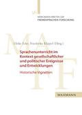 Sprachenunterricht im Kontext gesellschaftlicher und politischer Ereignisse und Entwicklungen