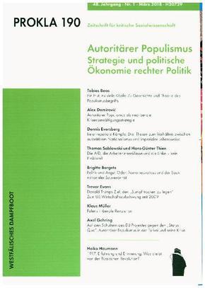 Prokla: Autoritärer Populismus; .190