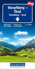 Kümmerly & Frey Karte Vorarlberg, Tirol / Vorarlberg, Tyrol / Vorarlberg, Tirolo