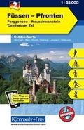 Kümmerly & Frey Outdoorkarte Füssen - Pfronten