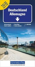 Kümmerly+Frey Karte Deutschland Nord + Süd Strassenkarte, Doppelkarte