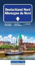Kümmerly+Frey Karte Deutschland Nord / Allemagne du Nord / Germany North / Germania del Nord Strassenkarte
