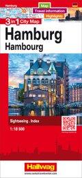 3 in 1 City Map Hamburg
