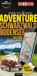 High 5 Edition Interactive Mobile ADVENTUREMAP Schwarzwald Bodensee Allgäu