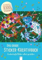 Das große Sticker-Kreativbuch. Zauberhafte Bilder selbst gestalten
