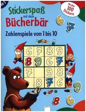 Stickerspaß mit dem Bücherbär. Zahlenspiele von 1 bis 10
