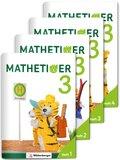 Mathetiger, Neubearbeitung 2016: 3. Schuljahr, Heftausgabe, 4 Bde. + CD-ROM; Bd.3