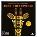 Geheimnisvolle Sticker-Welt: Tiere in der Savanne
