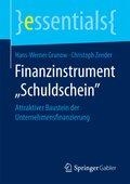 """Finanzinstrument """"Schuldschein"""""""