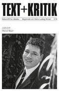 Text + Kritik: Marcel Beyer; .218 / 219