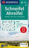 KOMPASS Wanderkarte Schneifel, Ahreifel, Schleiden, Prüm, Daun, Eifelsteig