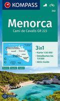 KOMPASS Wanderkarte Menorca
