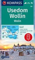 KOMPASS Wanderkarte Usedom, Wollin/Wolin